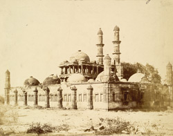 General view from the north-west of the Jami Masjid, Champaner